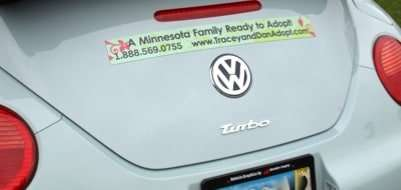 Adoption Car Decal